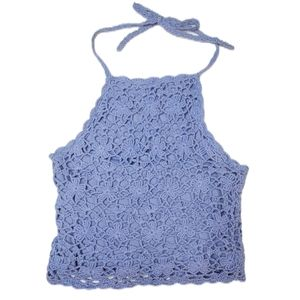 Cropped Lace Halter Top